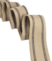 E-9240 Jute Webbing - Black (Medium Grade)