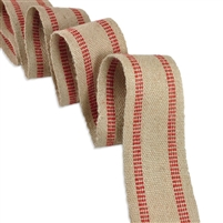 E-9241 Jute Webbing - Red (Heavy Grade)