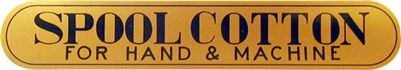 H-1012 SPOOL COTTON Spool Cabinet Decal