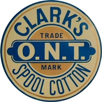 H-1050 CLARK'S Spool Cabinet Decal