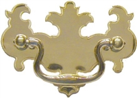 LS-121 Chippendale Drawer Pull - Brass - 2-1/2""