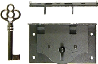"M-1808 Half-Mortise Chest Lock - 1"" Backset"
