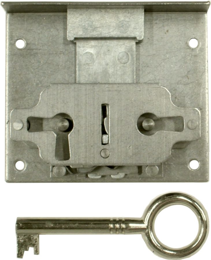 M-1816 Half Mortise Lock with Key - 1-9/16
