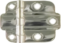 N-1772 Deco Flush Cabinet Hinge - Nickel