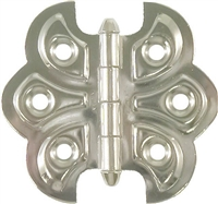 N-1792 Butterfly Hinge - Nickel Plated Steel