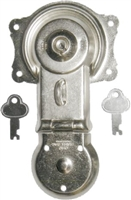 N-3815 Trunk Lock with Keys - Nickel Plated