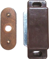 PL-1465 Magnetic Catch - Brown Plastic