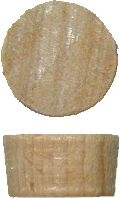 W1-6517 Screw Hole Plugs - MAPLE - 7/16""