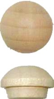W1-6533 Screw Hole Buttons - MAPLE - 3/8""