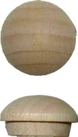 W1-6534 Screw Hole Buttons - MAPLE - 1/2""