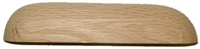 W3-0607 Plain Oak Drawer Pull - 6-7/8""