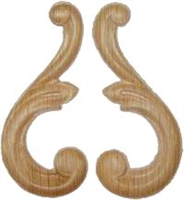 W3-5710 Decorative Ornament Pair - OAK