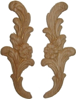W3-5724 Pressed OAK Ornament - Flower/Leaves