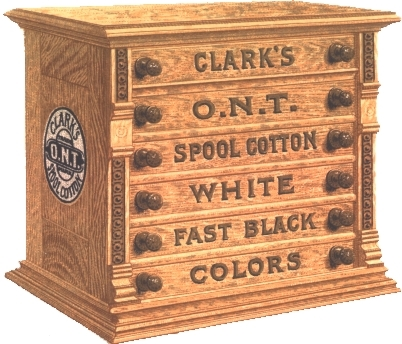 CLARK/'S Spool Cabinet Decal  WHITE  H1024